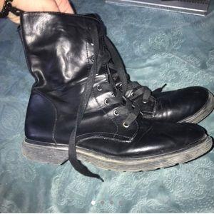 Black Combat Boots (resemble Doc Martens)